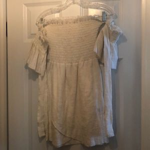 White off the shoulder Rue Stiic Dress